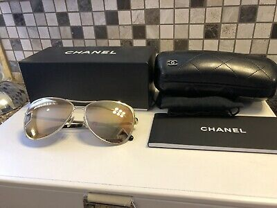 Auth 2017 Chanel 4223 c395/T6 Pilot Summer Gold Slightly Mirrored (Summer Sunglasses 2017)