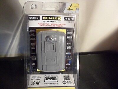 Square D 30-50 Psi Water Pump Pressure Switch New