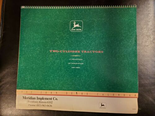 John Deere 1992 works for 2020 Calendar Two-Cylinder Tractors NOS NEW Old Stock