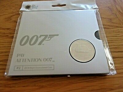 2020 PAY ATTENTION 007 - JAMES BOND -   £5 COIN BUNC IN SEALED ROYAL MINT PACK