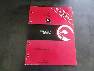 John Deere 820a Rear Tine Tiller Operators Manual  Om-ty20680 Issue L3