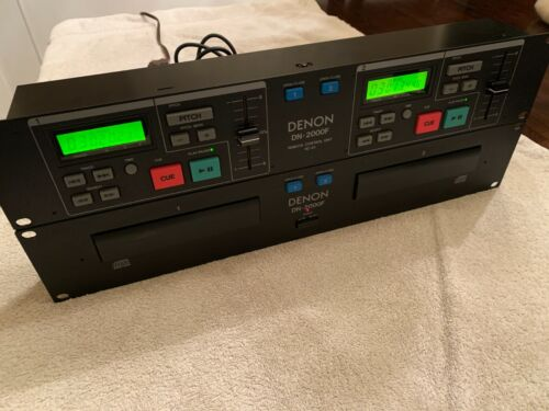 Denon DN-2000F rackmount dual CD Player with RC-35 Remote Control Unit