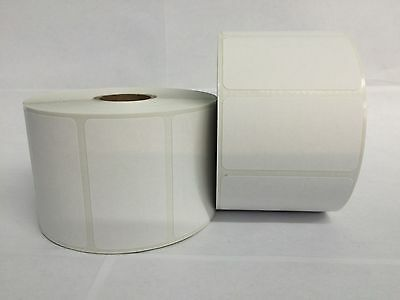 White 2.25x1.25 Direct Thermal Barcode Labels Zebra Eltron 2 Rolls-1000roll