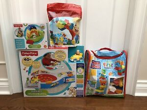 Newborn to toddler toys brand new Fisher Price Mega Bloks