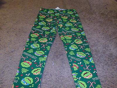 Teenage Mutant Ninja Turtles Women's Juniors Green Leggings Pants Large 11/13 (Ninja Turtle Leggings)