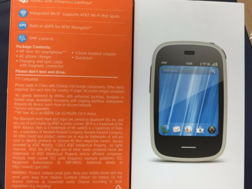 INBOX BRAND NEW HP Veer 4G - 8GB - Black/ white  P160 OEM EXTRAS