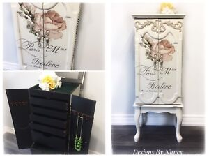 Gorgeous French Provincial Jewelry/Lingerie Armoire!