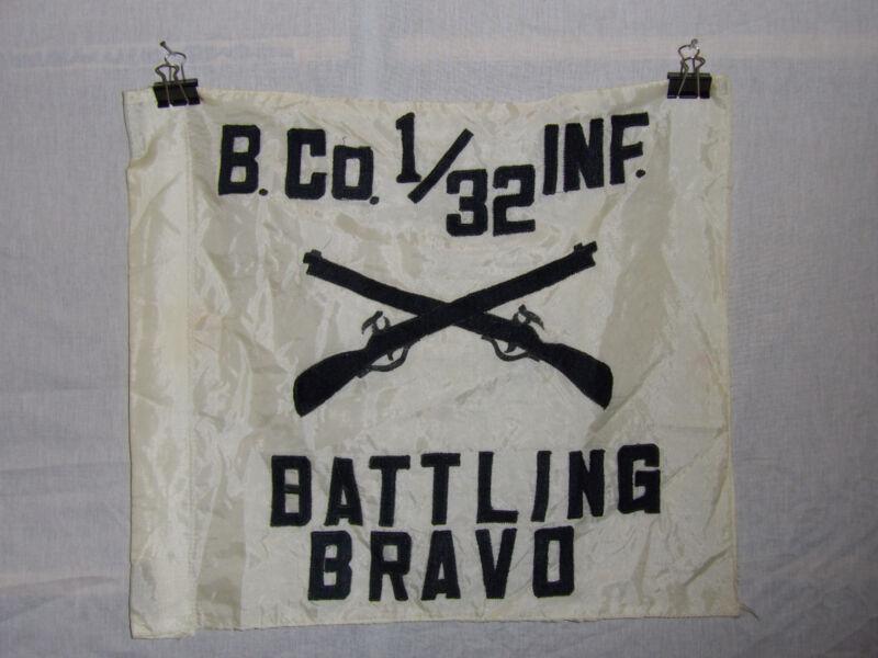 flag408 Vietnam era B.Co1/32 Inf Battling Bravo Infantry flag  IR44A