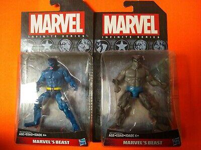 "Marvel Legends Infinite Series 3.75"" Beast X-Men 3 3/4"" . Both Blue and Gray"