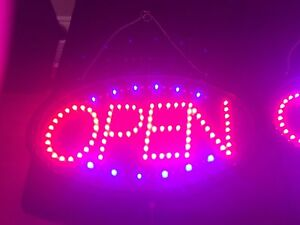 """BEAUTIFUL BRIGHT """"OPEN"""" SIGN"""