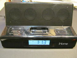 iHome iH27B Alarm Clock portable speaker system iPhone/iPod dock Audio Line-in