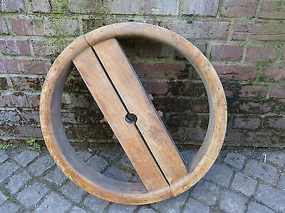Holz Riemenrad für Lederiemen Antriebsriemen von Dampfmaschinen ,Stationärmotor
