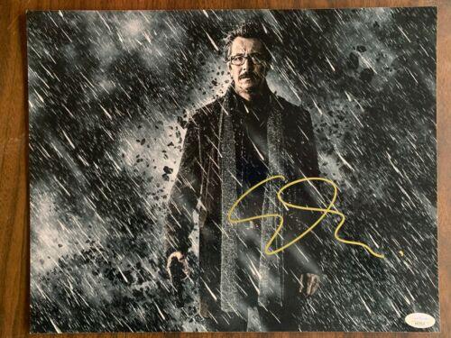 Batman Dark Knight Gary Oldman Autographed Signed 11x14 Photo JSA COA #3