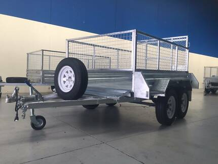 8*5 BOX CAGE TRAILER with RAMP– $2,200/TANDEM $2,900 DRIVE AWAY! Wetherill Park Fairfield Area Preview