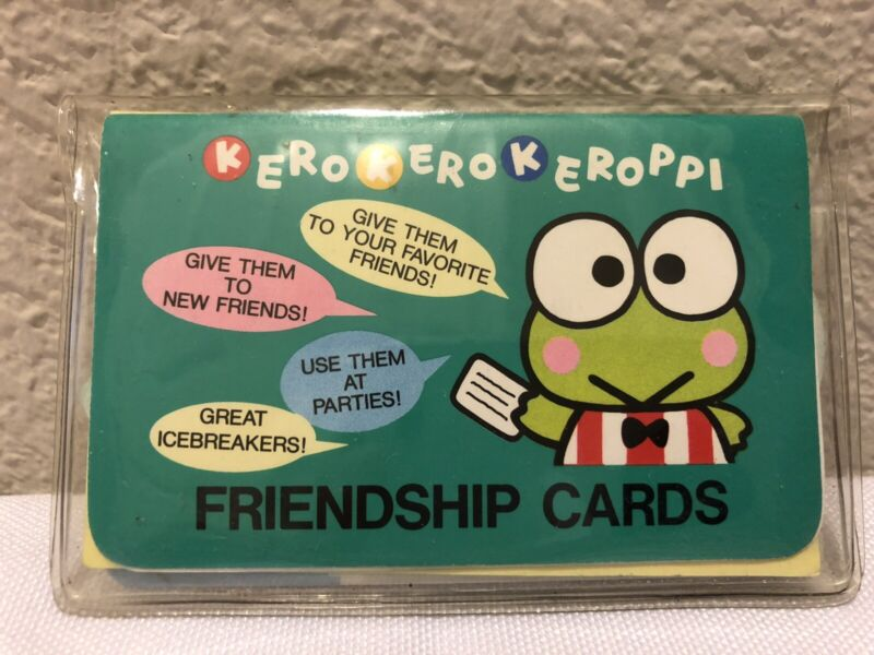 Sanrio Keroppi Friendship Card 1995 & Memo Pad 1993