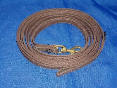 Brown Leather Super Soft Flexi Event Rubber Reins Full Size RRP £45+