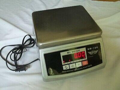 My Weigh Wr12k Digital Kitchen Postal Scale Waterproof 26.5lbs0.0353oz