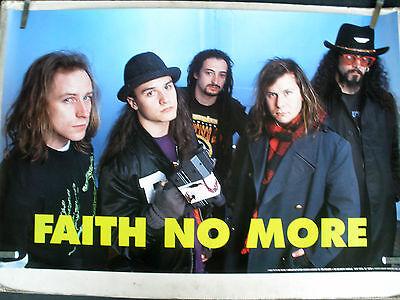 RARE FAITH NO MORE 1990 VINTAGE ORIGINAL MUSIC POSTER