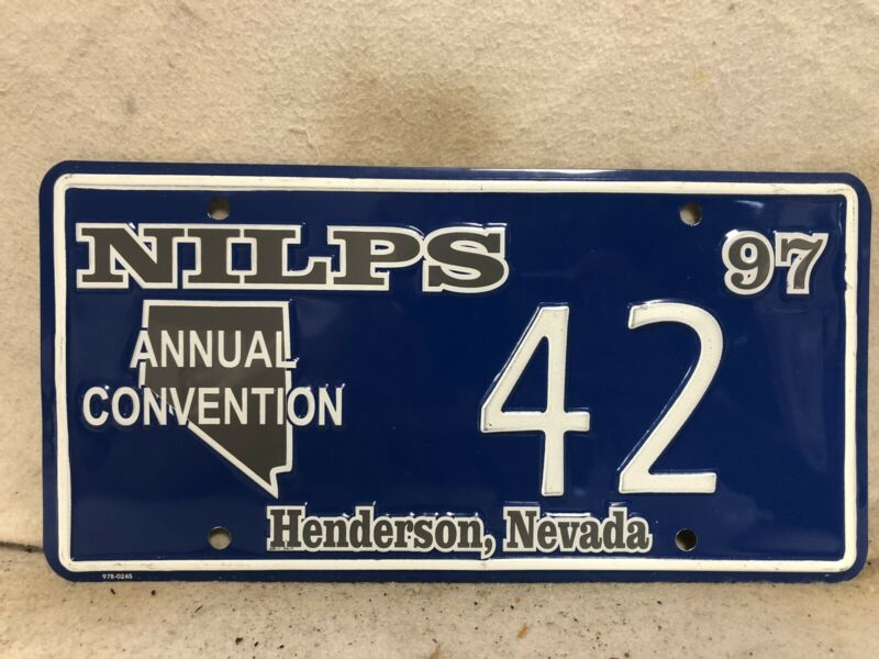 Nevada Souvenir License Plate (Low Number #42)