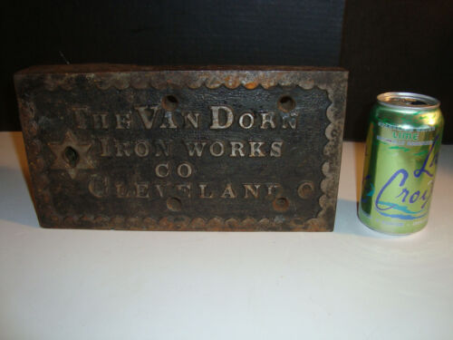 Rare Big Heavy Vtg Atq Van Dorn Iron Works Prison Jail Lock Cell 1504R