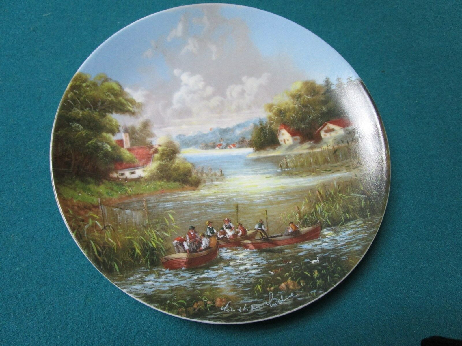 seltmann weiden 8 collector plates christian luckel 39 s idyllic village life 6 ebay. Black Bedroom Furniture Sets. Home Design Ideas