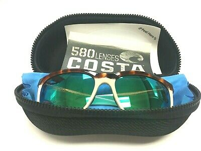 Costa Del Mar Anna Polarized Iridium Retro Tort/Green Mirror 55.4 (Costa Anna Sunglasses)