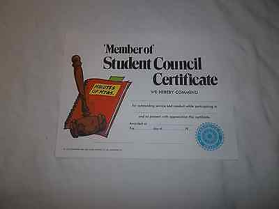 HAYES VA230 STUDENT COUNCIL MEMBER  AWARDS CERTIFICATES (PACK OF - Student Council Certificate