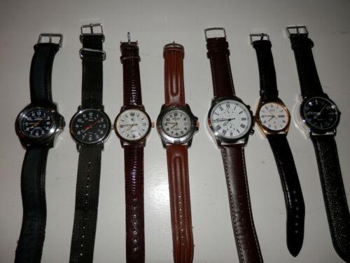 Vintage collection of quartz watches Seiko, Milan, Timex, running, new batteries