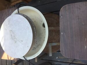 Pottery wheel and kiln