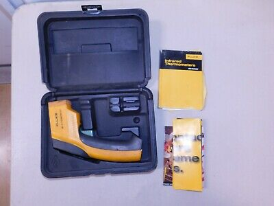 Fluke 63 Ir Thermometer With Hard Shell Case And Manual -eb71