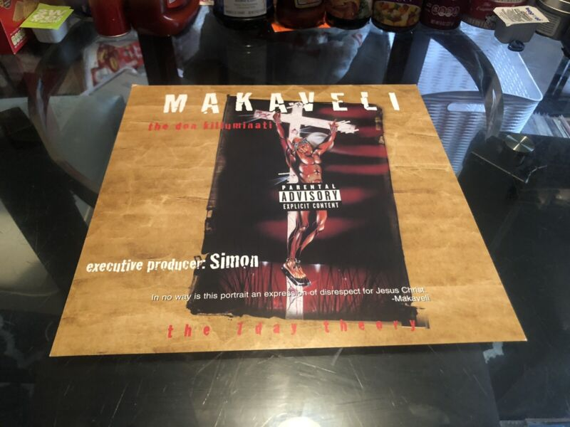 Makaveli Promo Cardboard Poster 12 * 12 2pac Official 1996 7 Day Theory Tupac