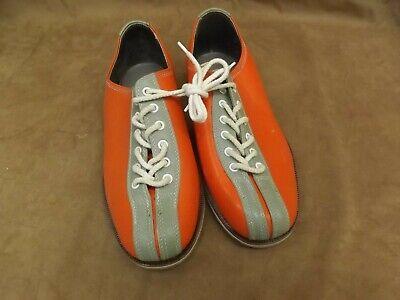 VTG NEW Santa Orange White Leather Soles & Uppers Rental Bowling Shoes Mens - Santa Rental