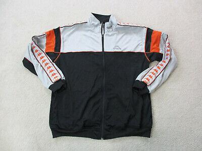 VINTAGE Kappa Jacket Adult 3XL XXXL Black Orange Spell Out Coat Mens 90s