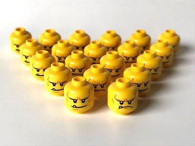 LEGO ®  20 x Kopf, männlich, beidseitig bedruckt, mit großem Mund und Zahn (K25) ()