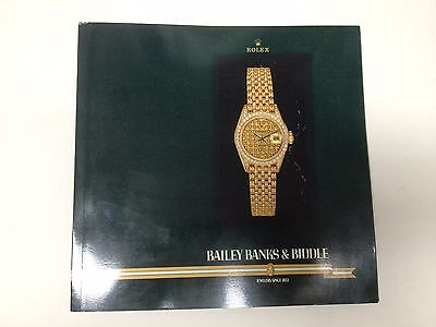 ROLEX Consumer Catalogue / price list 1990 USA