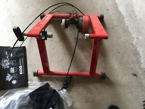 Bike trainer for indoor exercis