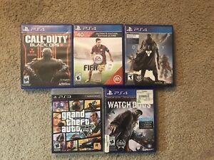 PS3 and PS4 games!  $8-$20