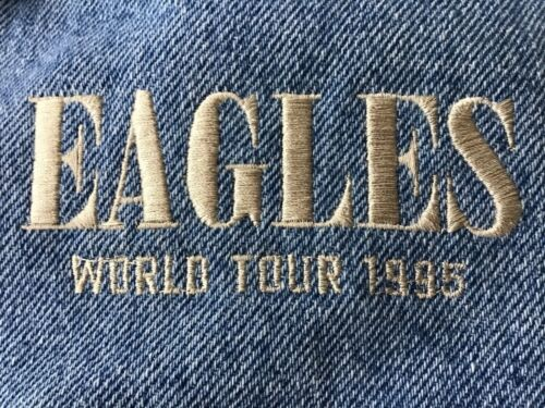 THE EAGLES 1995 VINTAGE ORIGINAL RARE XL DENIM TOUR JACKET NEW WITH TAG