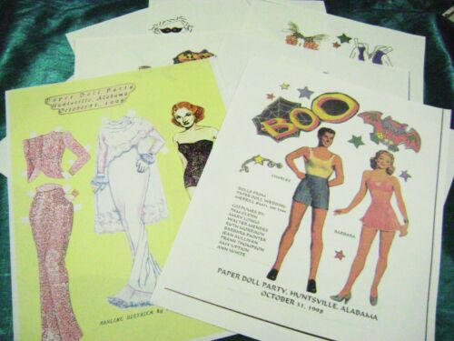 VTG PAPER DOLLS 1998 ALABAMA HALLOWEEN PARTY SOUVENIR VARIOUS ARTISTS RARE SETS