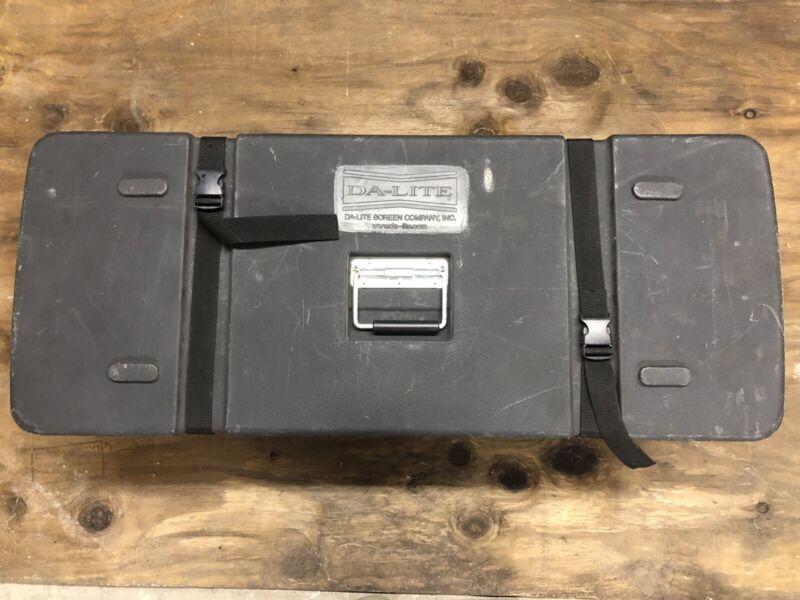 """Da Lite Fast Fold Deluxe Projector Screen 9 x 12"""" Da-Tex Rear Complete T- Legs"""
