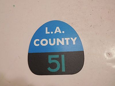 "LA COUNTY ""EMERGENCY"" HELMET FRONT SHIELD/MAGNET-SQUAD 51"
