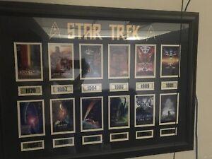 Star trek movie framed plaque.