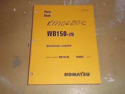 Komatsu Wb150-2n Backhoe Loader Parts Catalog Manual