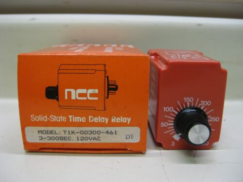 New NCC Ametek T1K-00300-461 3-300 Sec 120V Solid State Timer Time Delay Relay