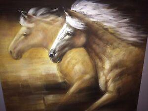 Tableau avec des chevaux