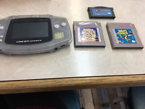 Game boy advance with 3 games