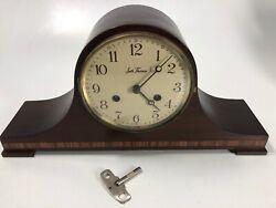 Large Vtg Seth Thomas Mantle Clock A 208-005 (2) Jewels 7713 USA/Germany w/ Key
