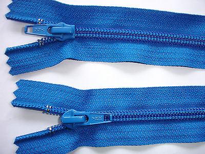 RV 245 Reißverschluß YKK blau 22cm, nicht teilbar 2 Stück
