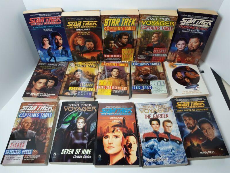 Star trek mass market book lot 15