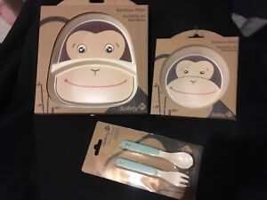 Matching Baby Feeding Set - Plate, Bowl, and Cutlery